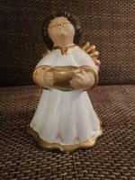 Olasz Thun kerámia angyalka, gyertyatartó. Jelzett, szép állapotú darab!