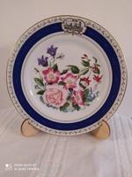 LImoges-i porcelán gxűjtői tányér, 1983-as, virágos