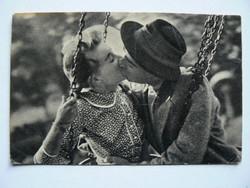 """TÖRŐCSIK MARI SOÓS IMRE """"KÖRHINTA"""" FOTÓ POST CARD, KÉPESLAP 1957 (9X14 CM) EREDETI"""