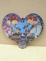 Rosenthal porcelán szív alakú falidísz
