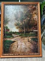 Ducsai István olaj festmény keretezve