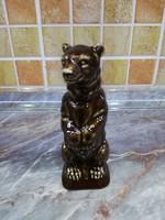 Porcelán Barna Medve