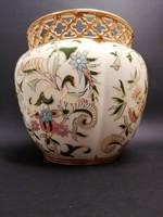Zsolnay Perzsa dekoros nagy kaspó, kb 18x17cm. ÚJ állapot!