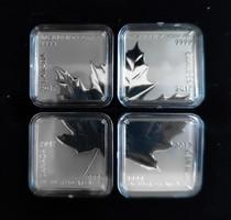 2017 Kanada 4x3$ Maple Leaf Quartet- tiszta ezüst érme