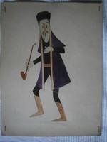 Hont-Varsány Ferenc : Rajzfilmfigura terv, 1950-es évek eleje 33x25 cm