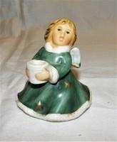Angyal, gyertyatartó Goebel porcelán