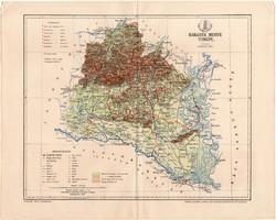 Baranya vármegye térkép 1893 (11), lexikon melléklet, Gönczy Pál, megye, Posner Károly, Pécs, Mohács