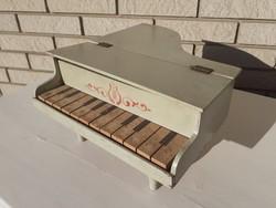 Retro játék régi zongora vintage fa mini hangszer dekoráció