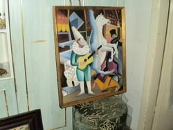 Aba Novák szignóval olaj festmény