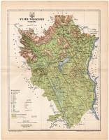 Fejér vármegye térkép 1896 (10), lexikon melléklet, Gönczy Pál, megye, Posner Károly, eredeti