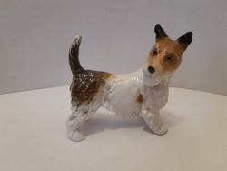 Ens porcelán foxi kutya figura