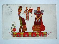 NÉVNAPI ÜDVÖZLET POST CARD, KÉPESLAP 1937 (9X14 CM) EREDETI