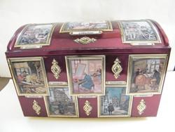 Nagy méretű E. Otto Schmidt kekszes doboz
