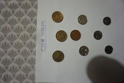 Cseh korona pénzérmék egyben eladók.