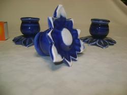 Három darab kerámia virág-gyertyatartó egyben - másképpen fordítva