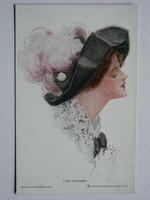 FINE FEATHERS POST CARD, KÉPESLAP 1913 REINTHAL&NEWMAN,PUBS.,N.Y. BY H.FISCH. NO.408 9X14 CM EREDETI