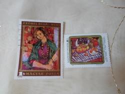 Magyar bélyeg – Czóbel Béla festményei (1974, 1983; (amatőr gyűjtemény)