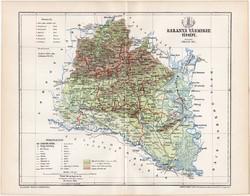 Baranya vármegye térkép 1893 (10), lexikon melléklet, Gönczy Pál, megye, Posner Károly, Pécs, Mohács
