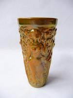 Zsolnay eozin mázas szüretelő pohár
