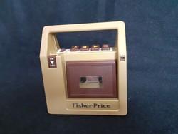 Régi Fisher price játék magnetofon magnó 1980