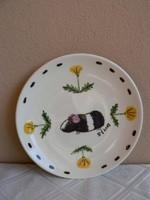 Gmundner kerámia tányér tengerimalacos