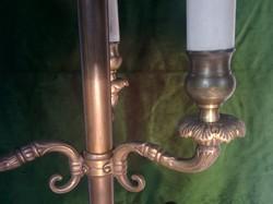 Antik 3 ágú réz asztali lámpa.