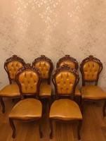6 db felújítandó neobarokk szék
