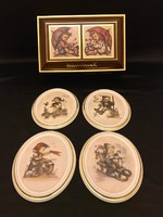 M.J. Hummel 4 èvszak limitált falikép kollekció. 16,5 cm magas, 13cm széles