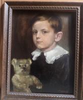 Benczúr Gyula portréképe kisfiáról.