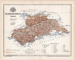 Kis - Küküllő vármegye térkép 1894 (10), lexikon melléklet, Gönczy Pál, megye, Posner, eredeti