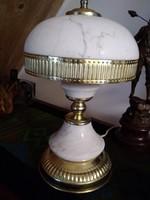 Empire stílusú asztali lámpa, fehér carrerai márványból!