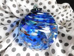 Kézzel készült, muranói üveggömb / karácsonyfadísz
