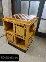 Art deco sakk asztal ,polcokkal
