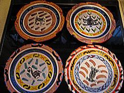 Gyűjtői ritkaság! Észak -afrikai Clementina van der Walt  tányérok