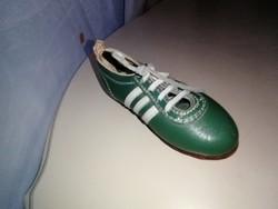FTC zöld fehér 6 stoplis valódi, kézzel készített bőr cipő (dekoráció)