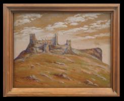Romos vár - Régi, igényesen megfestett alkotás a 60-70-es évekből ,virtuális- látványkeretben