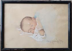Rainerné Istvánffy Gabriella 1875-1964 : Alvó csecsemő