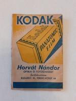 Régi Kodak fotós kellék fényképtartó papír
