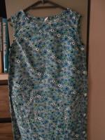 Retro otthonka-házi ruha kék mintás