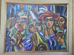 Józsa János :Ünneplők című festménye