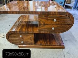 Art deco 8 fiókos asztal , tv állvány , dohányzóasztal
