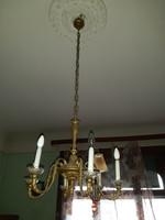 Antik barokk réz csillár