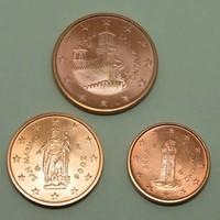 1,2,5 Euro cent sor San Marino - Forgalmi érem