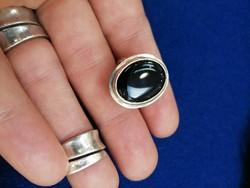 Ónix köves, ezüst gyűrű