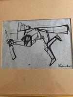 """Kondor Béla (1931 - 1972) """"Katona"""" Tus - papíron"""