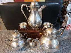 Ezüst kávézó szett 6 db