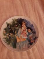 Limoges -Karácsonyi fali tányér