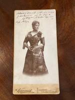 Blaha Lujza eredeti dedikált fotó 1891