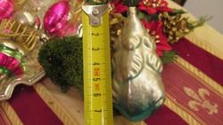 Régi üveg karácsonyfadisz ezüst fenyő