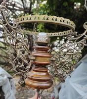 Lüszter làmpa,tiszta réz és fàbó szép dekoratív, csillár.Fali lámpa angyalok, figurális.